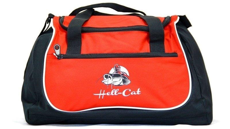 Černo-červená rybářská taška Hell-Cat