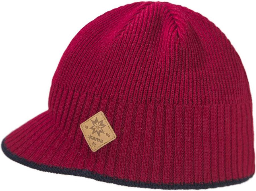 Červená dámská zimní čepice Kama - univerzální velikost