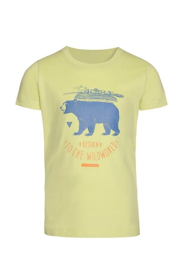 Zelené dětské tričko s krátkým rukávem Alpine Pro