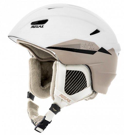 Bílá dámská lyžařská helma Relax - velikost M