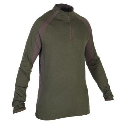 Zelené lovecké tričko s dlouhým rukávem Solognac