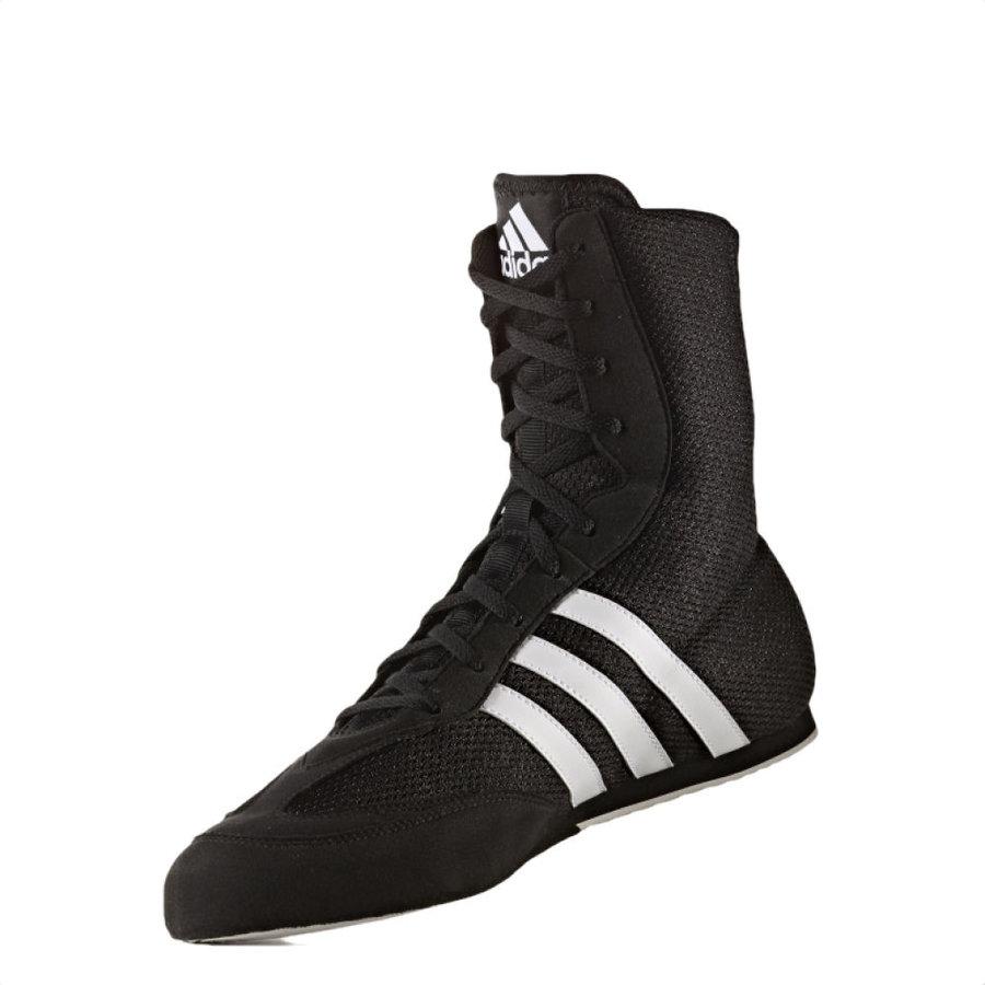 Černo-šedé boxerské boty Box Hog 2, Adidas