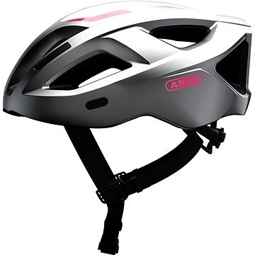 Stříbrná cyklistická helma Aduro, ABUS - velikost M