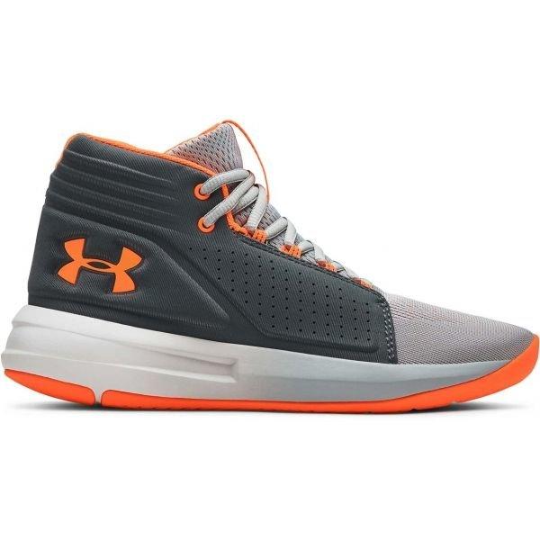 Šedé chlapecké basketbalové boty Under Armour - velikost 38 EU