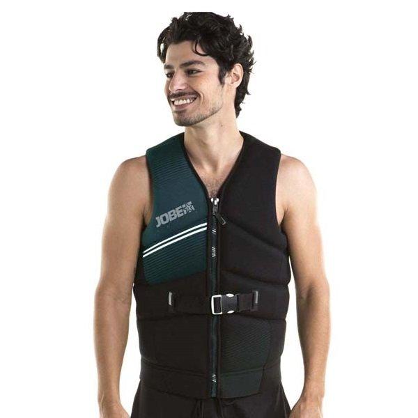 Černo-zelená pánská plavecká vesta Jobe