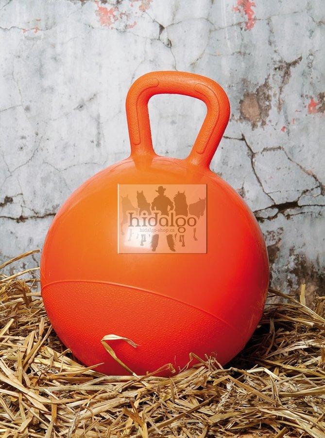 Oranžový míč pro koně Harry's Horse - průměr 25 cm