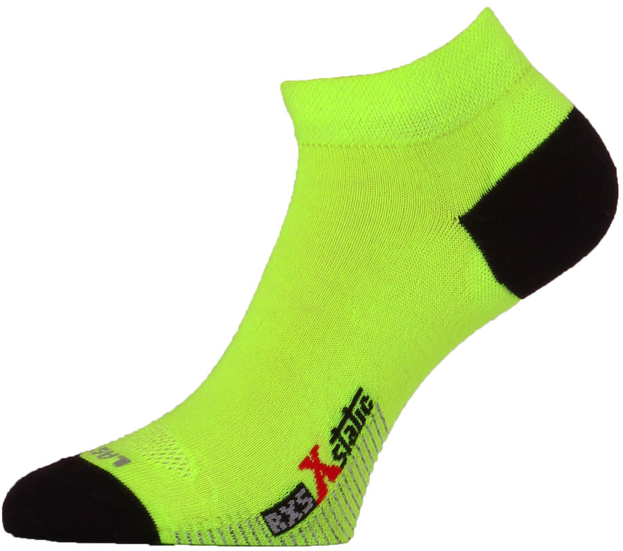 Černo-žluté pánské běžecké ponožky Lasting