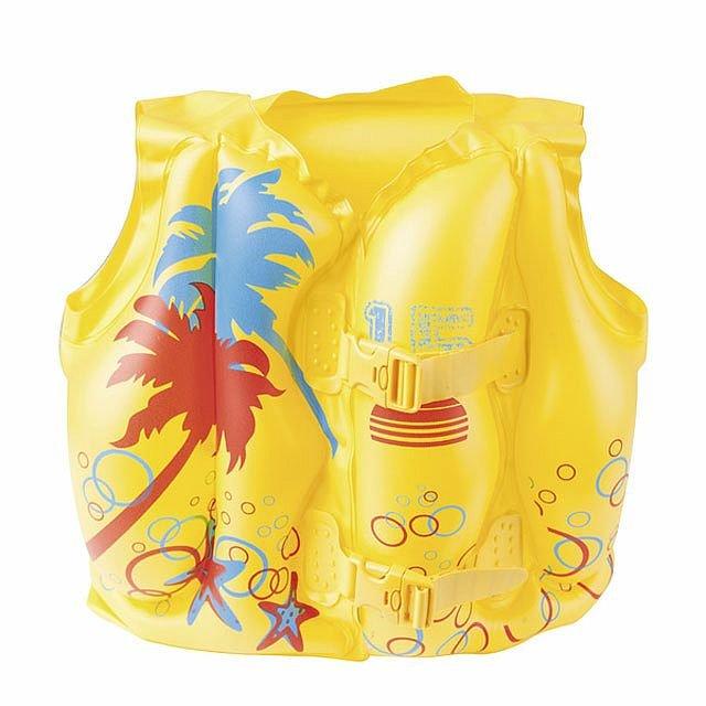 Různobarevná dětská nafukovací plavecká vesta Bestway - velikost 3-6 let