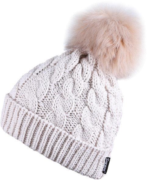 Béžová dámská zimní čepice Sherpa