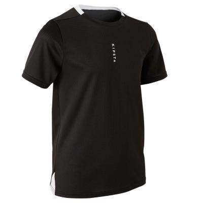 Černý dětský fotbalový dres F100, Kipsta
