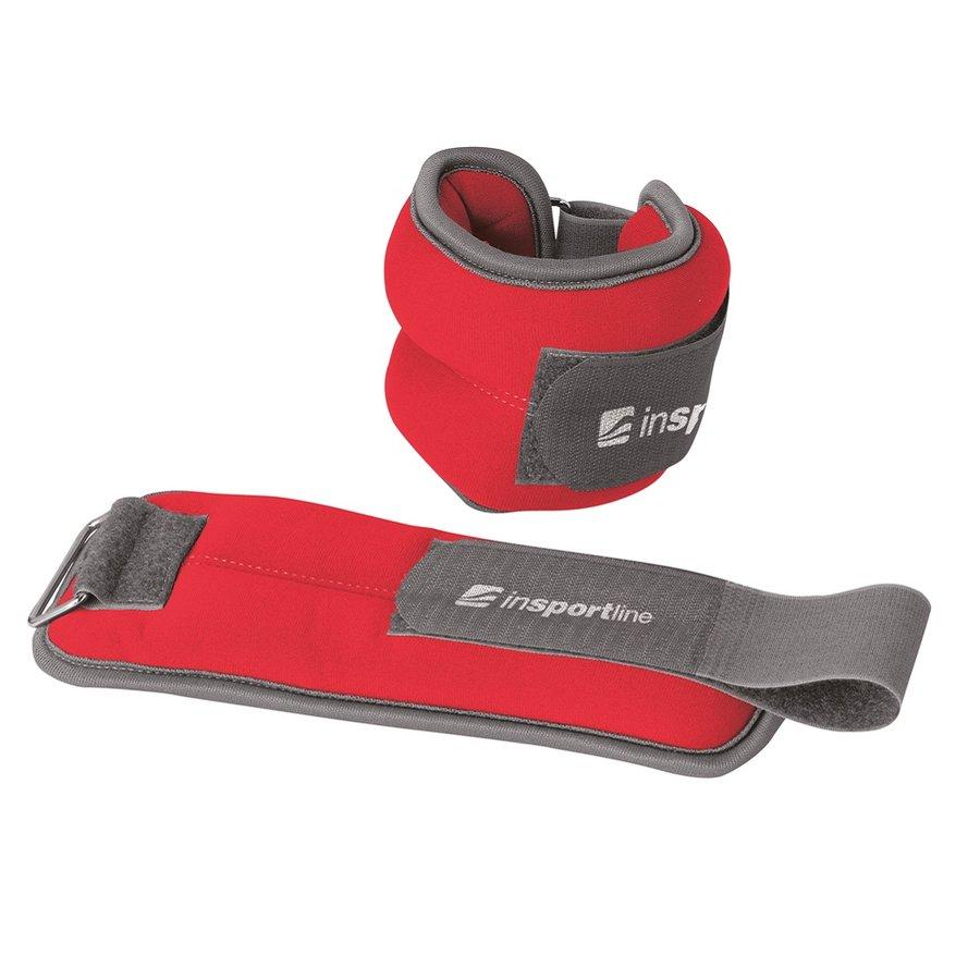 Červené závaží na ruce a nohy inSPORTline - 0,5 kg