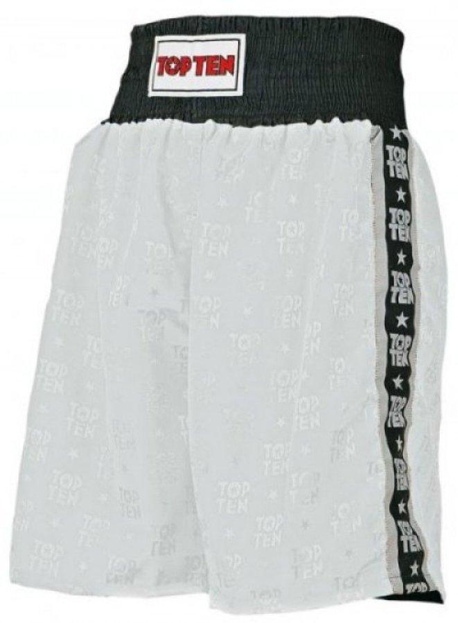 Bílé boxerské trenky Top Ten - velikost S
