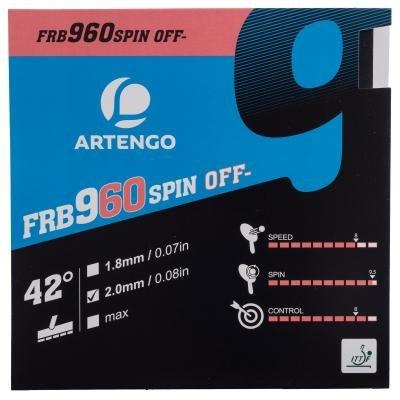 Černý potah na pálku FRB 960 Spin 42°, Artengo - tloušťka 2,0 mm