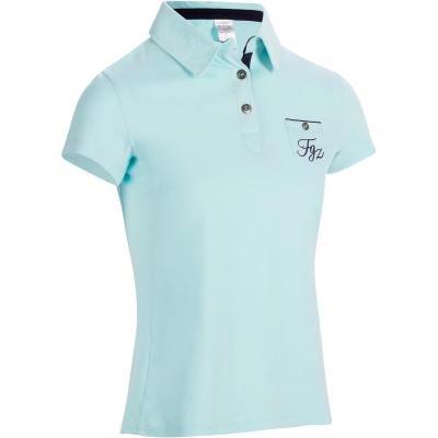 Modré dámské jezdecké tričko Fouganza