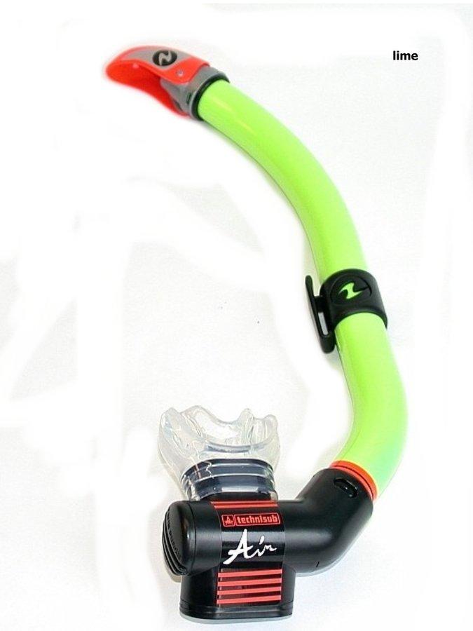 Zelený šnorchl Air Dry P.V., TECHNISUB