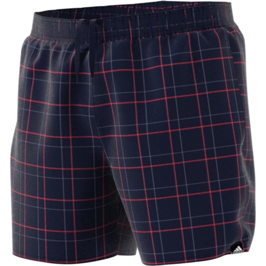 Modré pánské koupací kraťasy Check Short Short-Length, Adidas - velikost XS