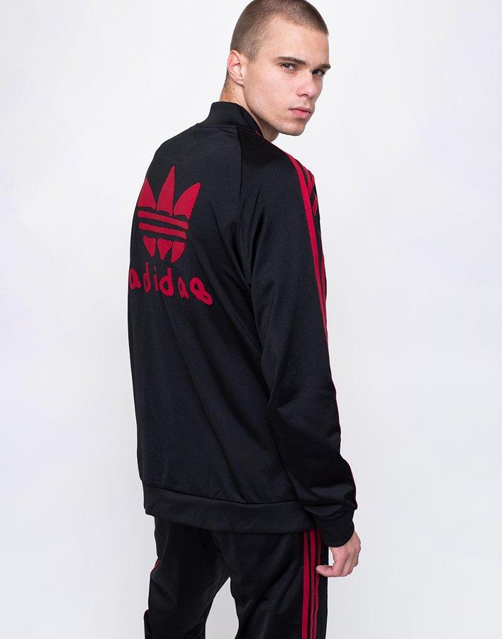 Černá pánská mikina bez kapuce Adidas - velikost L