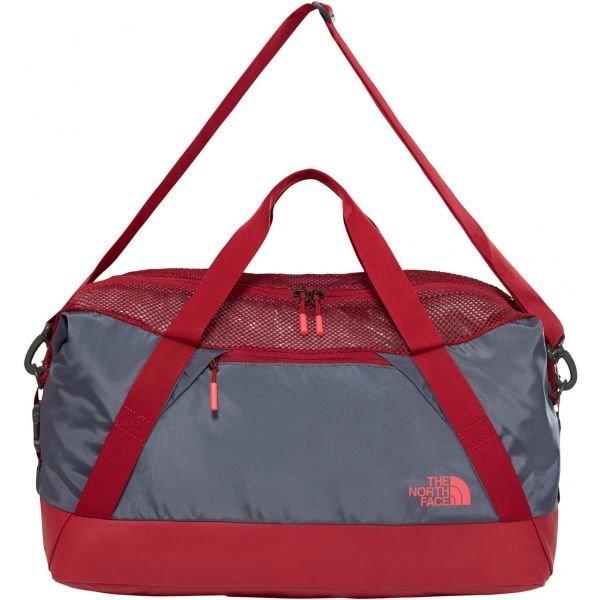 Červeno-šedá sportovní taška The North Face - objem 45 l