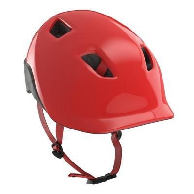 Červená dětská cyklistická helma B'TWIN