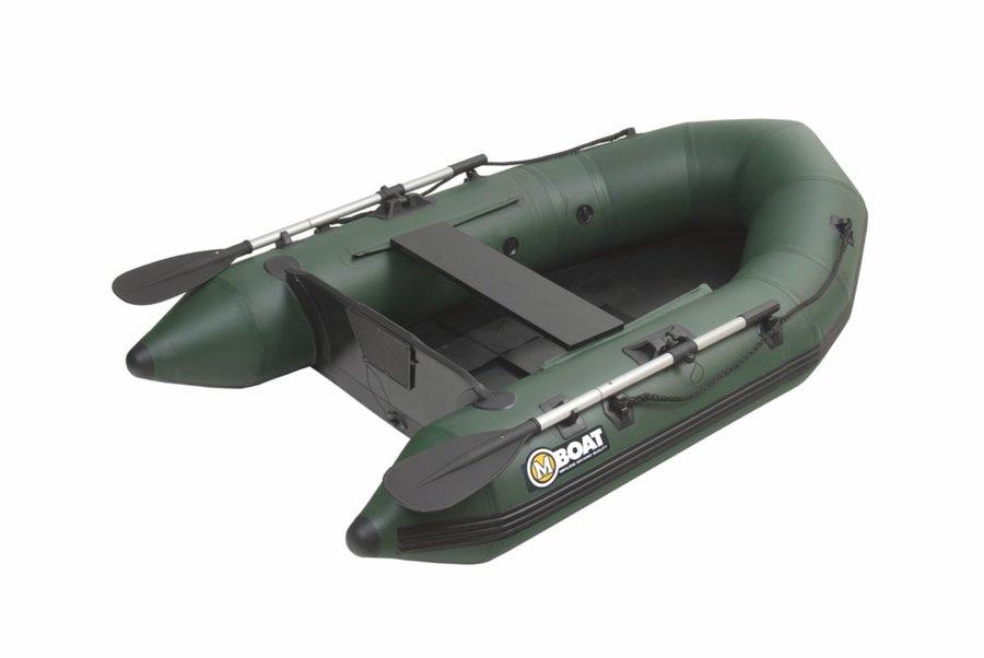 Zelený nafukovací rybářský člun s nafukovacím dnem pro 2 osoby Mivardi