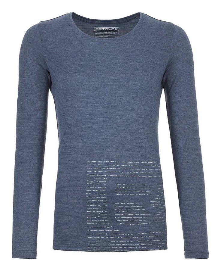 Modré dámské termo tričko s dlouhým rukávem Ortovox