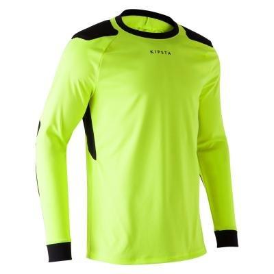 Žlutý brankářský fotbalový dres F100, Kipsta