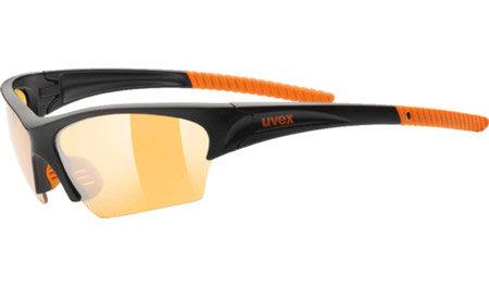 Černo-oranžové cyklistické brýle Sunsation, Uvex
