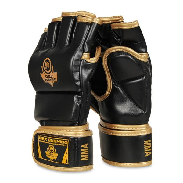 Černo-zlaté MMA rukavice Bushido
