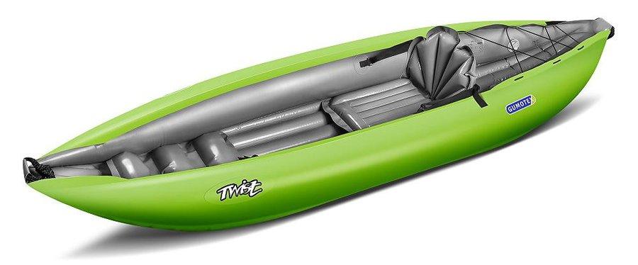 Zelený nafukovací kajak pro 1 osobu Twist, Gumotex
