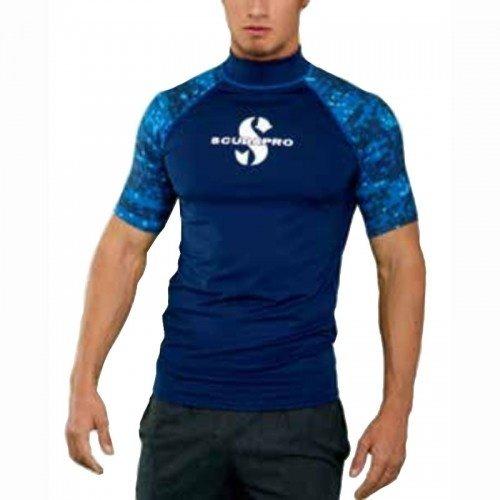 Modré pánské lycrové tričko Aegean RG UPF 50, Scubapro