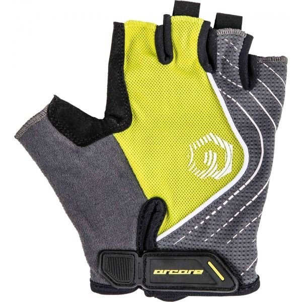Šedo-žluté cyklistické rukavice Arcore - velikost XL