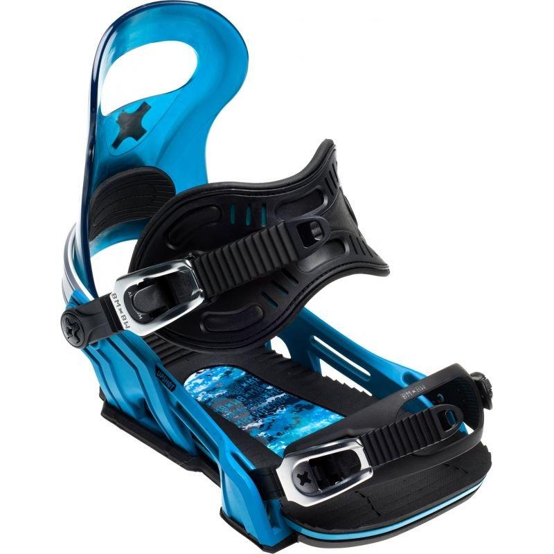 Modré vázání na snowboard Bent Metal - velikost M