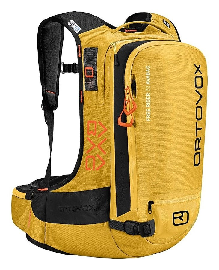 Žlutý lavinový skialpový batoh Ortovox - objem 22 l