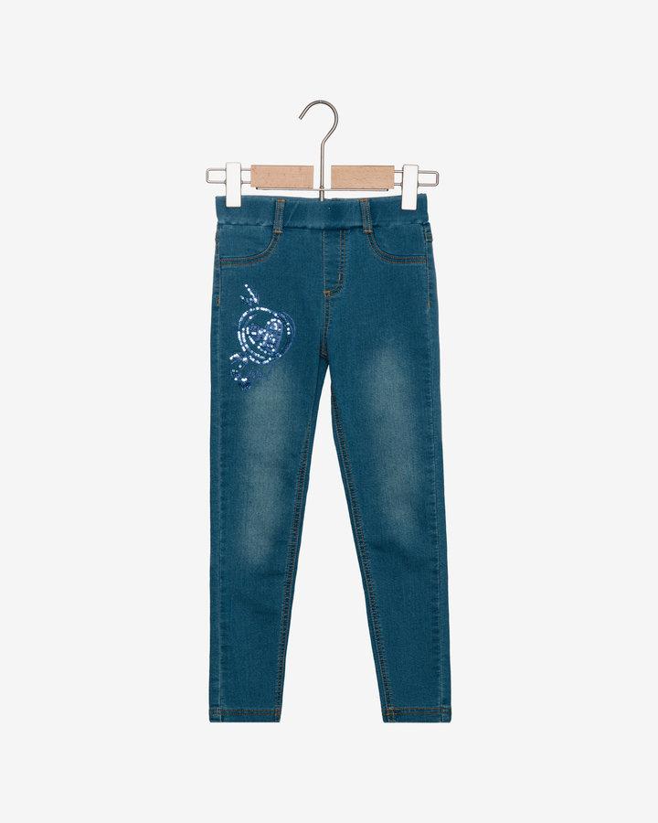 Modré dívčí džíny Desigual - velikost 116