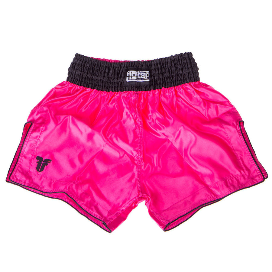 Černo-růžové thaiboxerské trenky Fighter