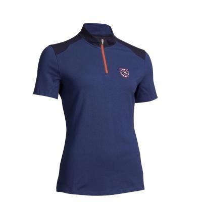 Modré dámské jezdecké tričko Fouganza - velikost 36