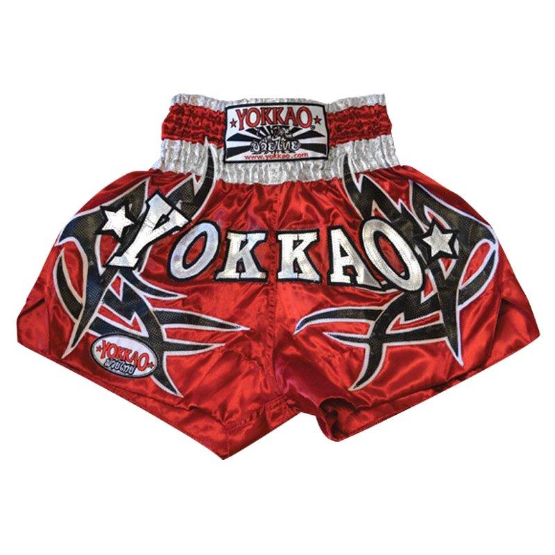 Červené thaiboxerské trenky Yokkao - velikost L