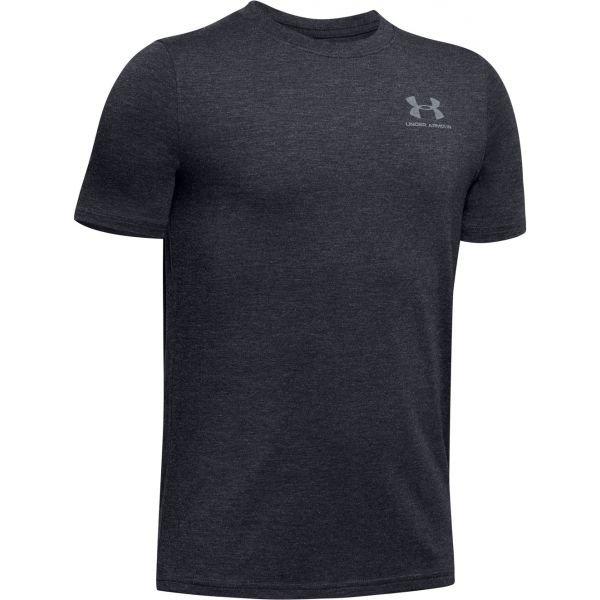 Černé chlapecké tričko s krátkým rukávem Under Armour