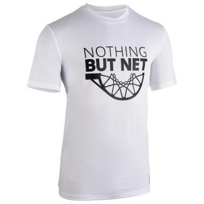 Bílé pánské basketbalové tričko s krátkým rukávem Tarmak - velikost XL