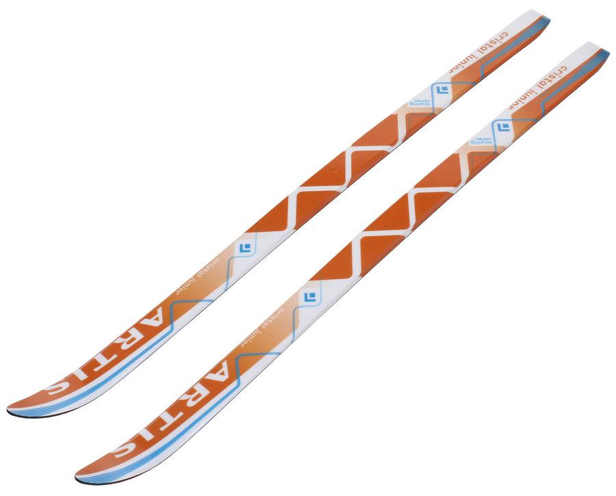 Bílo-oranžové dětské běžky Artis - délka 100 cm