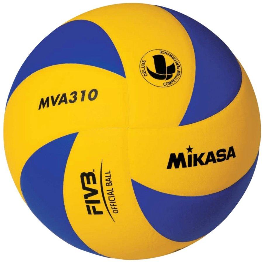 Modro-žlutý volejbalový míč MVA 310 Deluxe, Mikasa - velikost 5