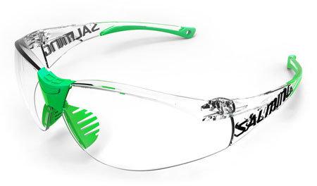 Růžové dětské ochranné brýle na florbal SplitVision, Salming