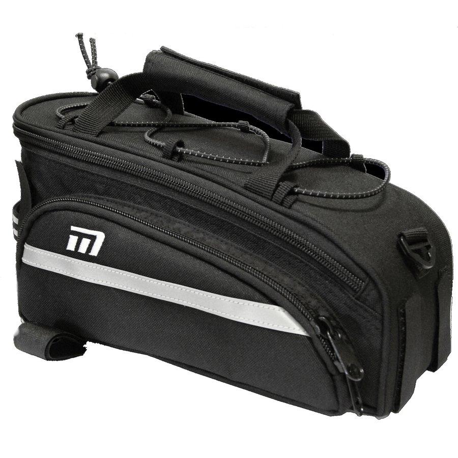 Černá brašna na kolo na zadní nosič Maxbike