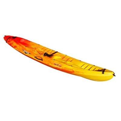Žlutý pevný kajak pro 2 osoby + 1 dítě Ocean, RTM