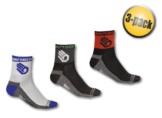 Černo-modré pánské ponožky Race Lite, Sensor - velikost 35-38 EU - 3 ks