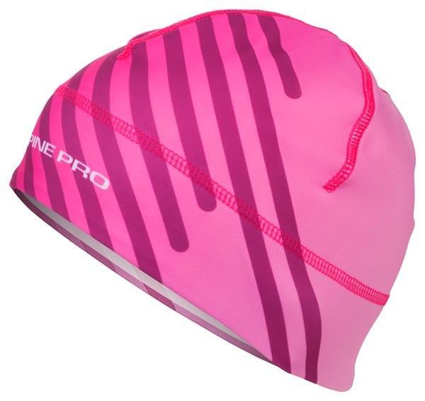 Růžová běžecká čepice Alpine Pro - velikost M