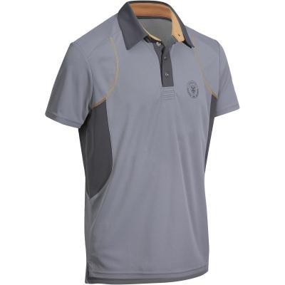 Šedé pánské jezdecké tričko Fouganza - velikost XL