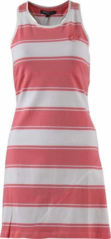 Bílo-růžové dámské šaty MARINE