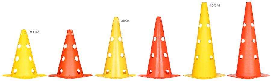 Žlutý tréninkový kužel Merco - 1 ks