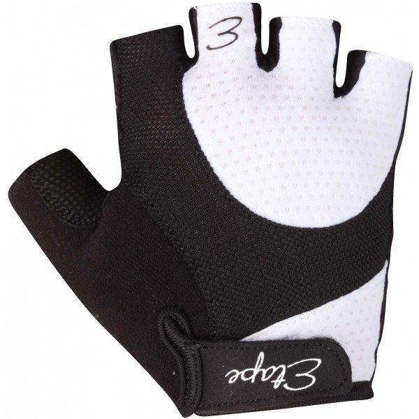 Bílo-černé dámské cyklistické rukavice Etape